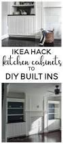 ikea hack kitchen cabinets turned built ins living room