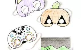 100 ideas printable coloring halloween masks emergingartspdx