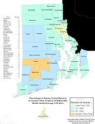 Map Of Ri Radon Department Of Health