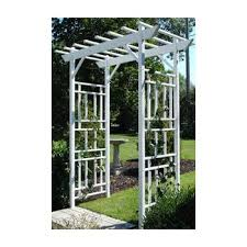 amazon com dura trel camelot 7 ft vinyl pergola arbor with