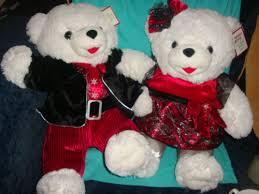 stuffed teddy bears walmart com 2013 walmart christmas snowflake teddy 2 bears white u0026boy 20