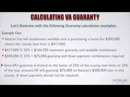 Va Max Loan Amount Worksheet by How Do You Calculate The Va Guaranty And Available Entitlement