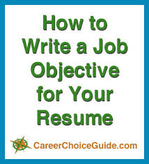 Objectives Example In Resume by Resume Job Objectives Writing Tips And Samples