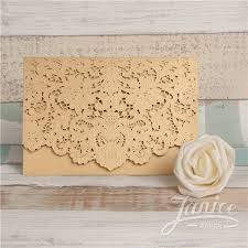 wholesale wedding invitations graceful gold laser cut pocket wholesale wedding invitation