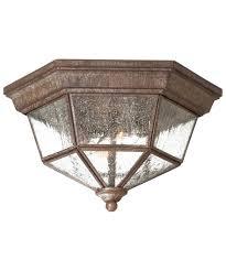 Outdoor Flush Mount Lighting Fixtures Minka Lavery 8619 Court 11 Inch Wide 2 Light Outdoor Flush