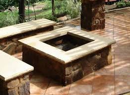 Square Firepit Large Square Pit Outdoor Pit Kits And Pit