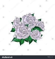 hand drawn wedding rose bouquet flower stock vector 351154004