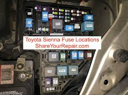 2007 Sienna Fuse Box Diagram Toyota Sienna Fuse Locations Share Your Repair