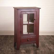 small curio cabinet with glass doors small curio cabinet small curio cabinet with drawer in red small