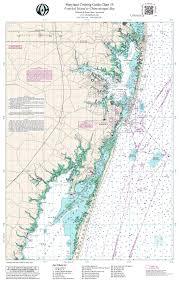Chesapeake Bay Map Mdchart 19 Chesapeake Bay Fenwick Island To Chincoteague Bay