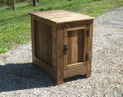 Nightstand With Hidden Compartment Concealed Hidden Gun Compartment Pallet Wood Nightstand