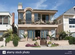 california newport beach balboa peninsula beachfront homes stock