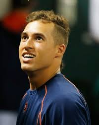 george springer in los angeles angels of anaheim v houston astros