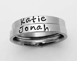 personalized engraved rings sted personalized jewelry by letterbylinda on etsy