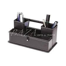 Leather Desk Organizers Quality Guarantee Unique Design Promotional Desk Leather Organizers
