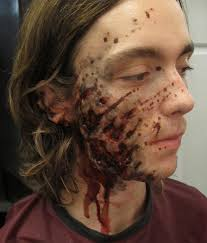 Creepy Makeup Halloween Axe Wound Stitches Makeup Morgue Pinterest