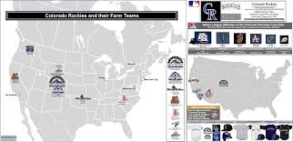 Coors Field Map Mlb Ball Clubs And Their Minor League Affiliates The Colorado