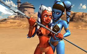 star wars clone wars images ahsoka tano aayla secura hd