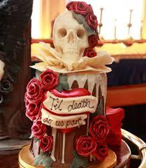 our favourite choccywoccydoodah cakes skull and roses wedding
