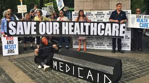 N Home Health Care by Vigil Held In Columbus Circle To Protest Health Care Bill Am New