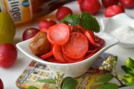 cuisiner 駱inards frais radis aux pruneaux sucré salé 超開胃 梅漬櫻桃蘿蔔