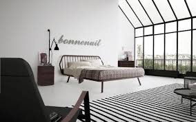 double bed minimal design with wooden frame idfdesign
