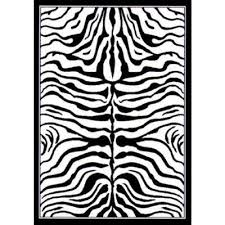 white animal print area rugs rugs the home depot