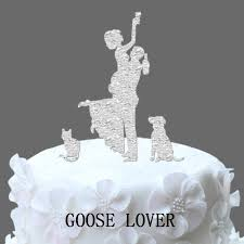 cat wedding cake toppers wedding cake topper silhouette dog silhouette wedding cake