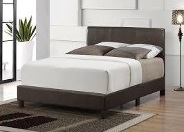 Leather Headboard Platform Bed Luca Platform Bed With Faux Leather Headboard Footboard And Rails