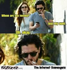 Memes About Texting - kit harington is texting his aunt meme pmslweb