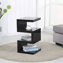 High Gloss Side Table Trio Modern Side Table In Black High Gloss Price 129 95