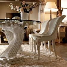 Large Glass Dining Tables Exclusive Italian Pedestal Large Glass Dining Table Set
