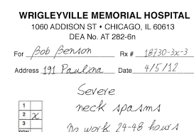 here u0027s a fake doctor note to get you out of work for the cubs