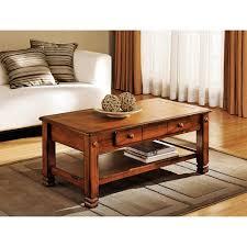 rustic oak coffee table summit mountain coffee table rustic oak walmart com