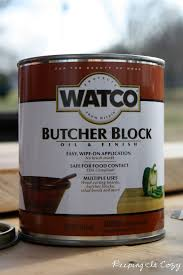 keeping it cozy a handmade bread board we used this butcher block oil by watco which is completely food safe i plan to use this on my butcher block countertops here soon too