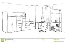 kids room graphical sketch stock illustration image of