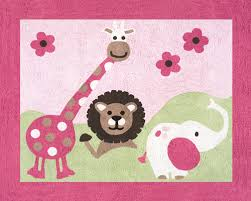 Kids Animal Rugs Pink Safari Animals Rug Kids Soft Accent Floor Area Or Bath Rug
