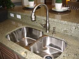 kitchen faucet installation granite countertop spray painting laminate cabinets delta single