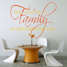 the love of a family wall stickers decals sunflower and orange the love of a family wall decal in a dining room