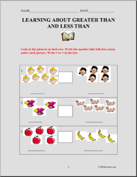 number names worksheets greater than less than worksheet for