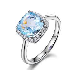 rings with pave images 489 cushion aquamarine engagement ring pave diamond wedding 14k jpg