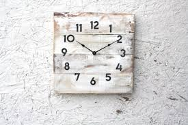 shabby chic cottage chic lake house style pallet wood clock r