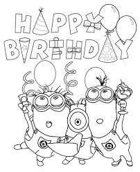 minions coloring books 3 print color free