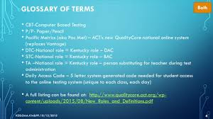 k prep end of course quality core presented by kathy moore and