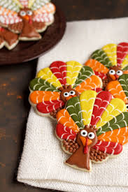 decorated turkey cookies royal icing cookie cutters and sugar cookies
