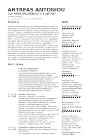 Sample Resume For Computer Engineer by Software Programmer Resume Samples Visualcv Resume Samples Database