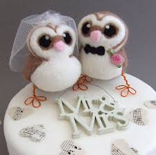 owl cake toppers wedding cake toppers owl groom light pink creative ideas