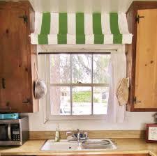 Green And Red Kitchen Ideas Minimalist Kitchen Decoration With Green White Striped Valance