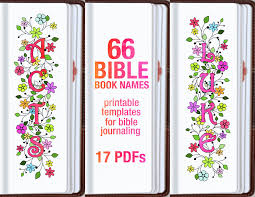 names of 66 bible books bible journaling printable template