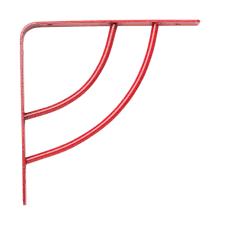 rubbermaid 6 in l x 8 in h bronze steel aris decorative shelf
